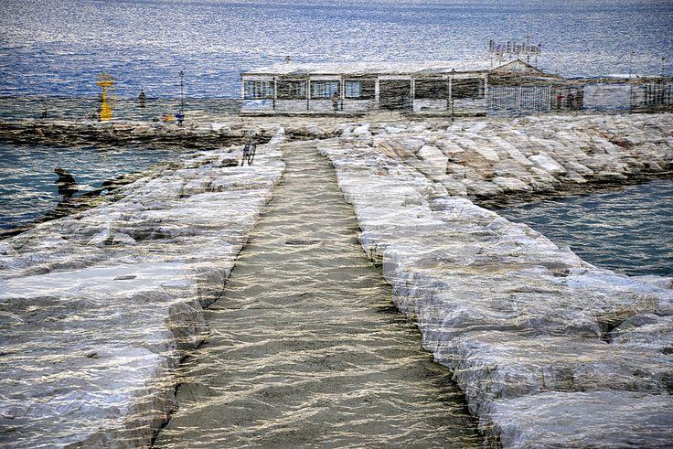 rimini #sea #beach #doublexposure #sky #photo #nophotoshop #tommymorosetti