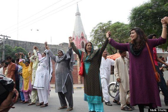 Pakistani Muslims Form Human Chain To Protect Christians During Mass. Hand in hand as many as 200-300 people formed a human chain outside the St Anthony's Church adjacent to the District Police Lines at the Empress Road, in a show of solidarity with the victims of the Peshawar church attack two weeks back, which resulted in over a 100 deaths.