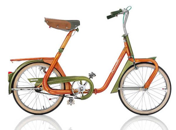 """DUEMILA  1968, ITA Frame: Steel varnished Bicycle gearing: 1 Speed Brakes: Rim Side Pull / Coaster Brake Tyres: 20"""" Wired Tyre / 20"""" Wired Tyre Weight: 42,99 lbs"""