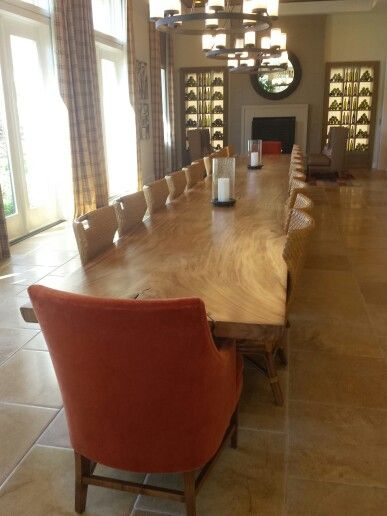 Table view at Tastings Room. Fireplace to the back and pool to the left on the photo