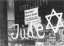 """""""Judío"""" Noche de los cristales rotos."""