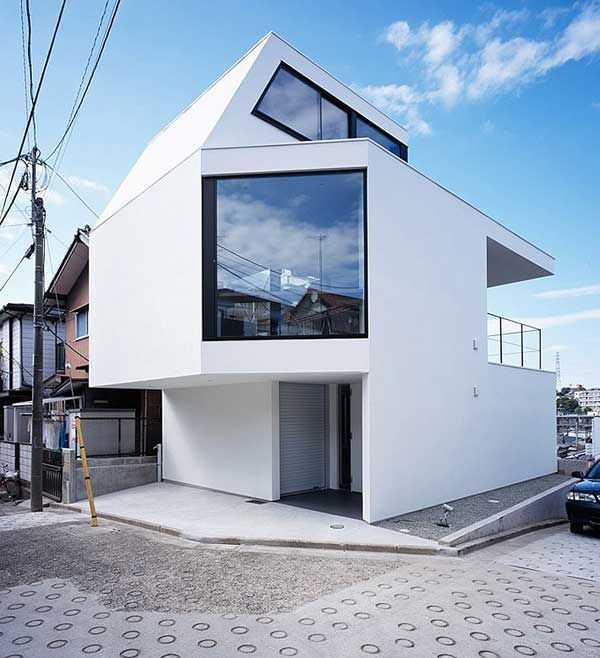 Japan-based creative studio Apollo Architects and Associates adorned a 590 square foot urban corner lot with a fantastic looking modern house – the Vista Residence.