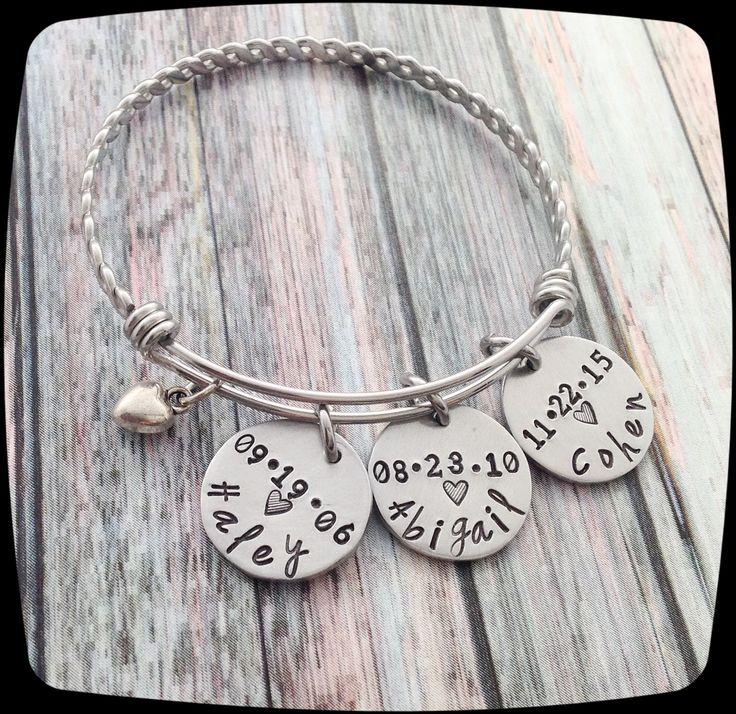 Personalized Grandma Bracelet, Nana Bracelet, Grandma ...