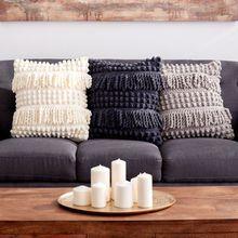 Free pattern on Michaels website Bernat® Blanket™ Bobble and Fringe Crochet Pillow