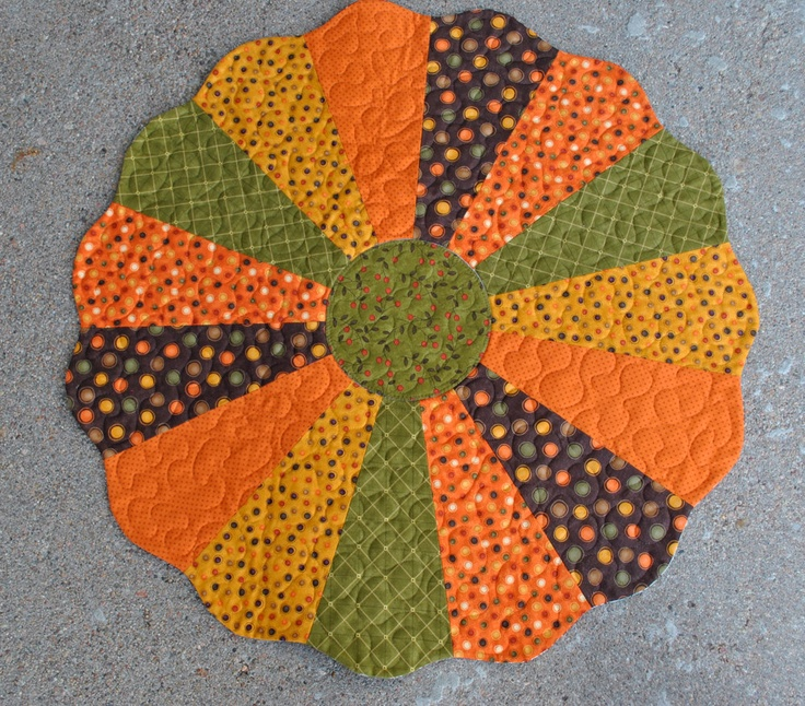 Fall And Christmas Reversible Dresden Plate Table Topper