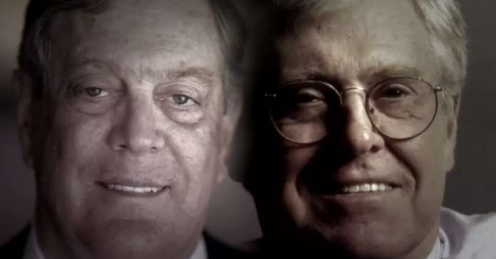 """.. At a time when most Americans agree that the country has too much power in too few hands, the world's two wealthiest men are only six seats away from seizing the Senate and consolidating their current control of the House. The result could be a full """"Koch Congress"""" that further rigs the rules in their favor.Libertarian billionaires Charles and David Koch have a combined net worth four times that of well-known Democratic donor George Soros, and one hundred times that of Tom Steyer."""