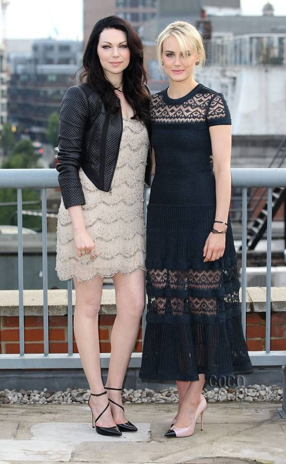 Orange Is The New Black Returns Next Weekend! And Stars Laura Prepon  Taylor Schilling Prep With Girly-Goth Style In London!