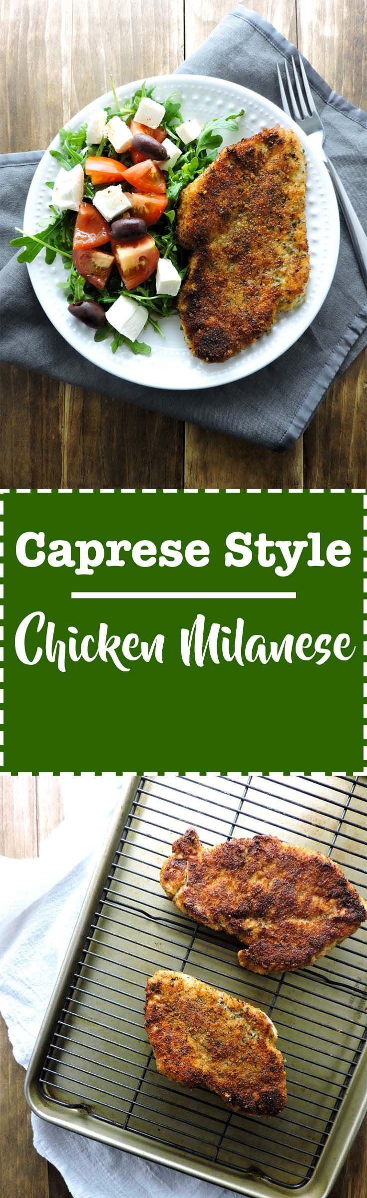 Caprese Style Chicken Milanese