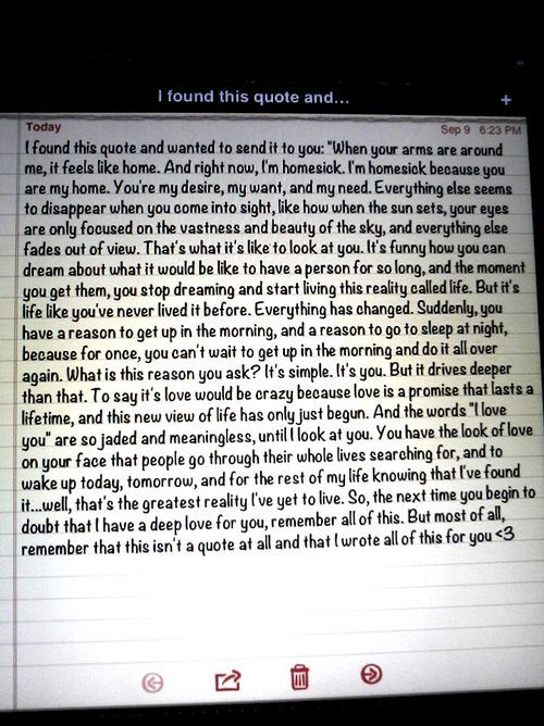 (: I wrote this love quote for the man in my life