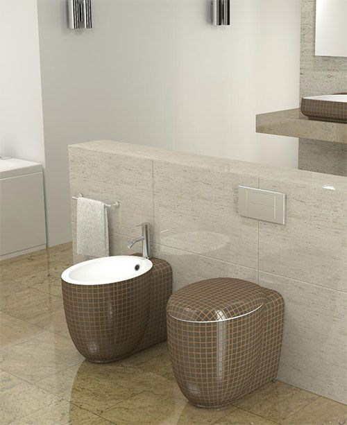 Water Cuarto De Baño:Matching Decorative Toilet with Bidet
