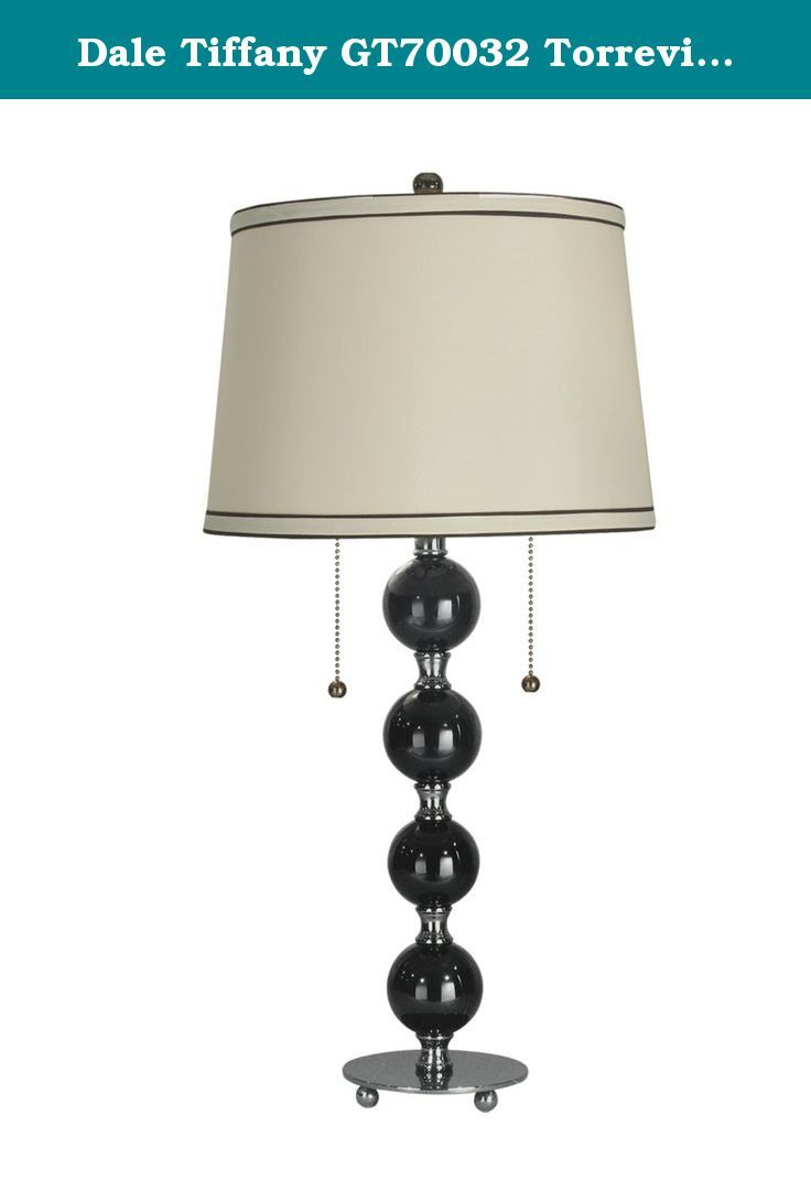 Table lamp harp sizes - Dale Tiffany Gt70032 Torrevieja Table Lamp Black Nickel And Fabric Shade Gt70032 Features