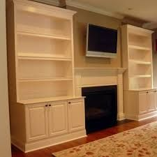 fireplace with built in cabinets - Google Search