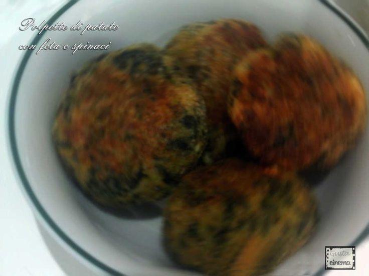 Polpette di patate con feta e spinaci