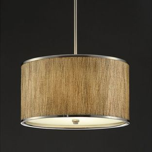 None - Natural Tan 16-inch Chandelier - Update any room with this elegant chandelier. Simple lines and a natural tan paper shade with metal ...