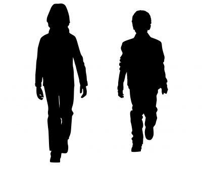 Walking Silhouette People