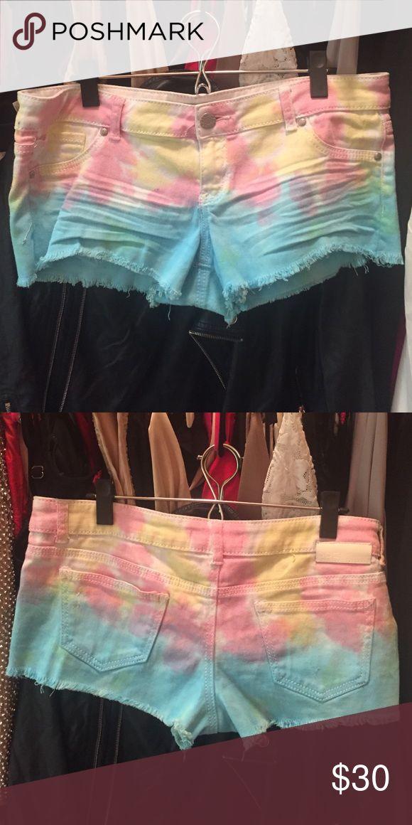 Tie dye shorts Tie dye shorts reminds of me pastel rainbow unicorn! Perfect for festivals like coachella Shorts