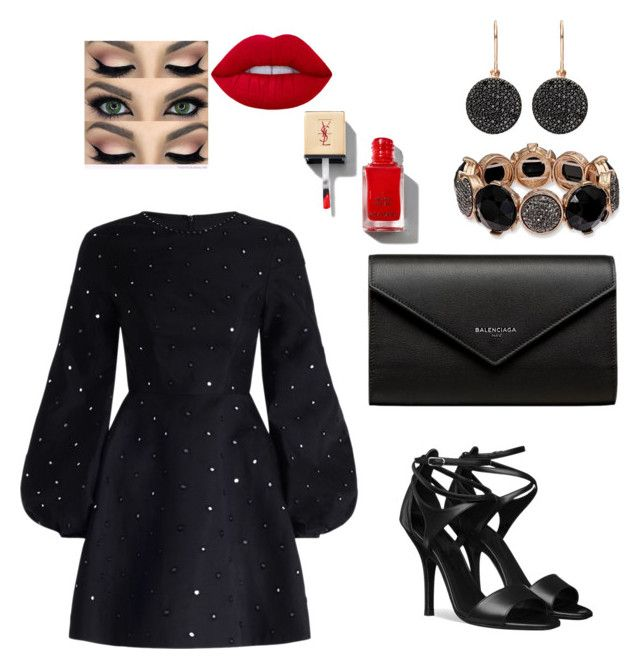 Black&red by iioanak on Polyvore featuring polyvore fashion style Zimmermann Balenciaga Astley Clarke clothing