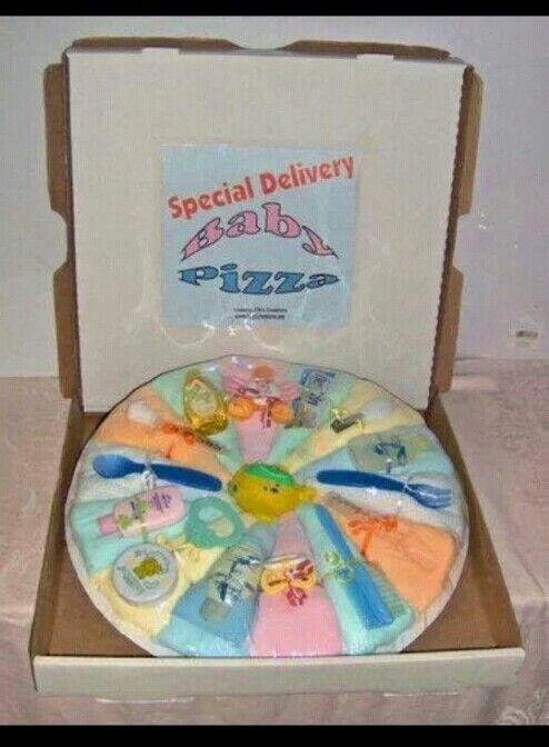 Diaper Pizza Pastel. Homemade Baby GiftsEasy CraftsCraft IdeasDiaper ...
