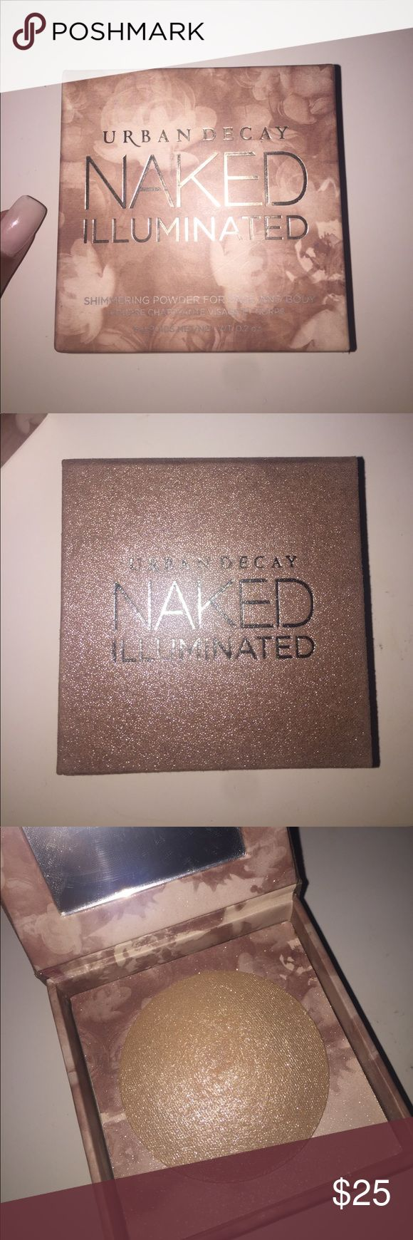 URBAN DECAY SHIMMER POWDER  HIGHLIGHTER Powder highlighter for face and body + BRAND NEW & Mini brush included❗️NO TRADES❗️ Urban Decay Makeup Luminizer