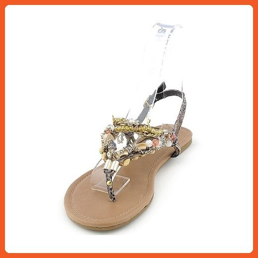 Shiekh Womens Delroy-S Sandal - Taupe/Multi-Color Size 5.5 - Sandals for women (*Amazon Partner-Link)