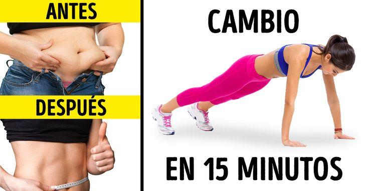 5 Ejercicios Para Transformar Tu Cuerpo En 15 Minutos Ejercicios Cuerpos Tonificados Fitness Fácil
