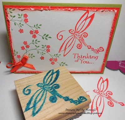 Dragonfly carved by Marion van EijsdenCards Ideas, Inspiration Stampinup, Stamps Carvings, Creative Cards, Stamps Techniques, Stampin Up, Dragonflies Stamps, Stamps Create, Undefined Stamps