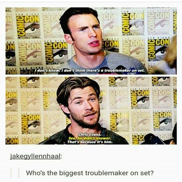 Chris Evans the troublemaker
