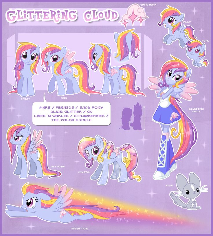 Glittering Cloud Ultimate Reference Guide by Centchi.deviantart.com on @DeviantArt