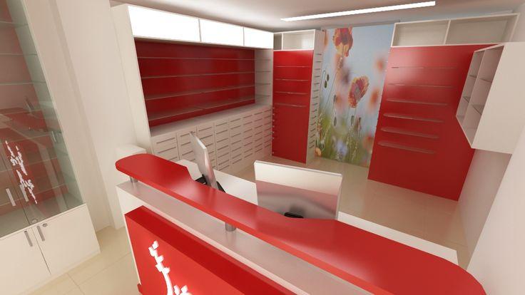 Amenajare oficina farmacie - mobilier specializat.  www.sertarefarmacii.ro