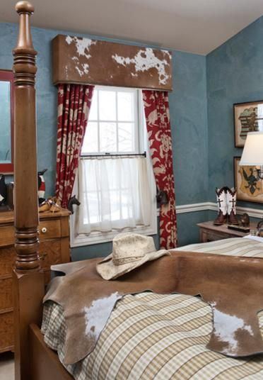 Custom Window Treatments Love the cowhide treatment, would like to use it in colorado.