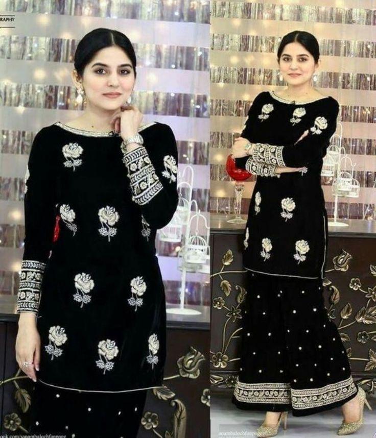 Latest Velvet Salwar Kameez Designs For Winter Season