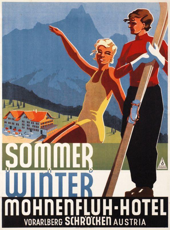 Sommer winter Mohnenfluh-Hotel, Vorarlberg Austria