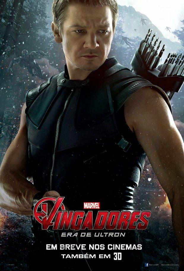 Gavião Arqueiro em destaque no pôster nacional de Vingadores: Era de Ultron. #Marvel