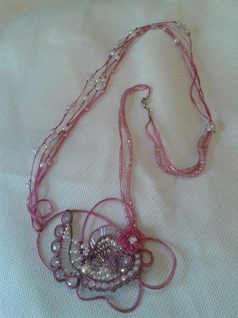 Collana perline e strass