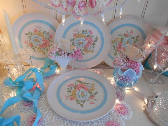 1940s vintage del mar melmac dinner plates pink by polkadotrose & 109 best Melmac images on Pinterest | Vintage dishes Vintage ...