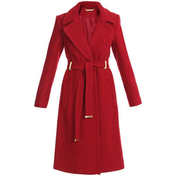 Diane von furstenberg coats RED (£341) ❤ liked on Polyvore featuring outerwear, coats, jackets, coats & jackets, red, diane, furstenberg, von, woolen coat and wool coat