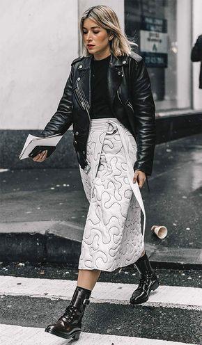 10 maneiras de usar saia midi no inverno - Bianca Panea