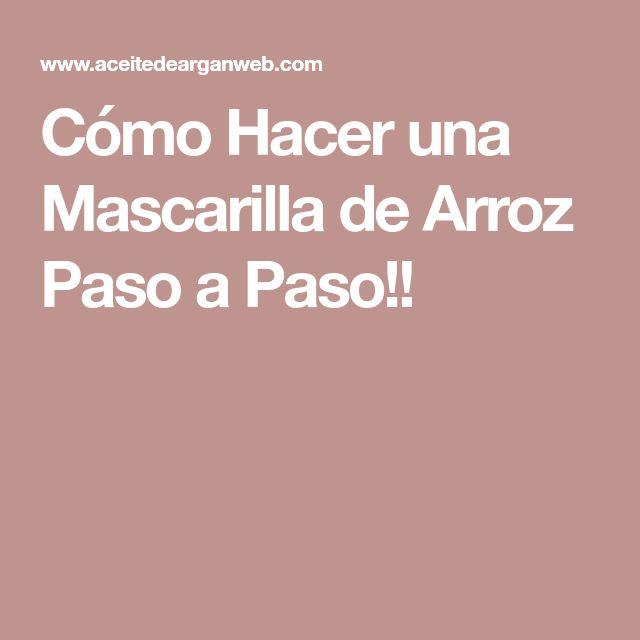 Cómo Hacer una Mascarilla de Arroz Paso a Paso!!