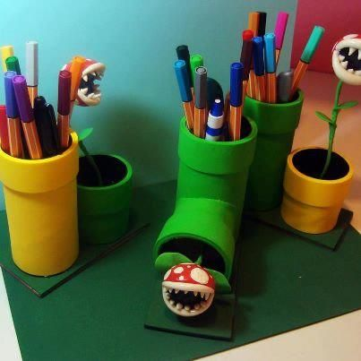 Super Mario Piranha Plant - Link is suspicious, do not click - But I love this idea for the kids!