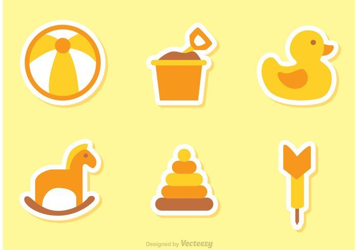 Childrens Toys Vector Icons