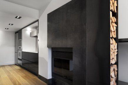 Moderniser l'habillage d'une cheminée   Lucie Lavigne   Idées déco