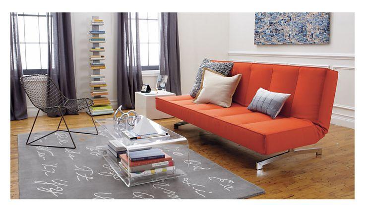 flex orange sleeper sofa - Orange | CB2