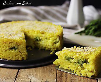 Ricetta torta di riso - ripieno cremoso con asparagi e mozzarella