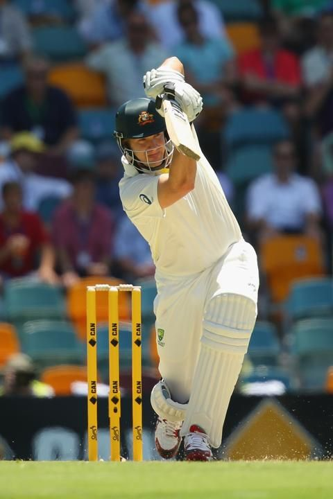 BRISBANE, AUSTRALIA - NOVEMBER 21: Shane Watson of Australia bats during day one of the First Ashes Test match between Australia and England at The Gabba on November 21, 2013 in Brisbane, Australia. (Photo by Mark Kolbe/Getty Images)