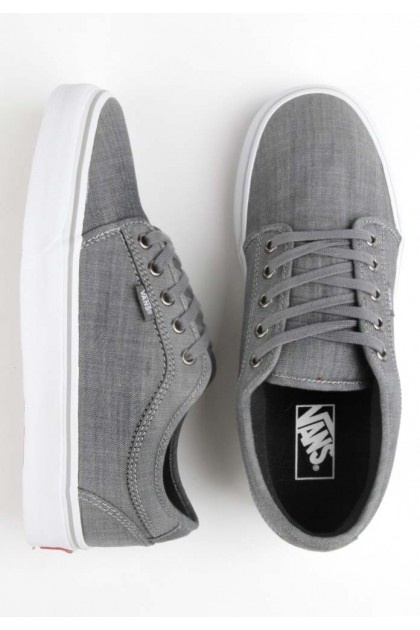 Vans Chukka Low (Chambray) Shoes - Grey/White $65.00 #vans