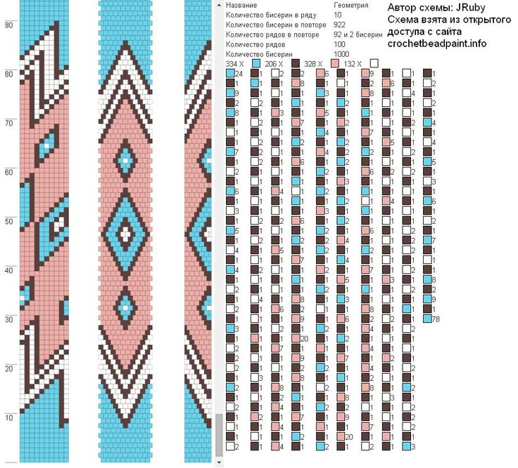 Жгуты из бисера схемы – | VK