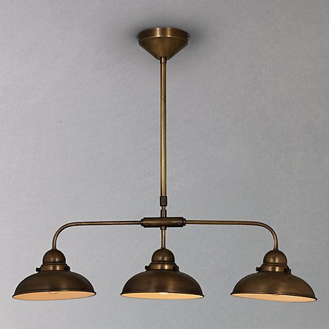 Buy John Lewis Antonio Lamp Brass 3 Lights Online At Johnlewis LewisPendant LightsDining RoomsBrass