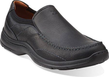 Men's Clarks Niland Energy Slip-on - Black Tumbled with FREE Shipping & Exchanges. The Niland Energy Slip-On by Clarks doesn't disappoint.  It is made with a removable Ortholite®