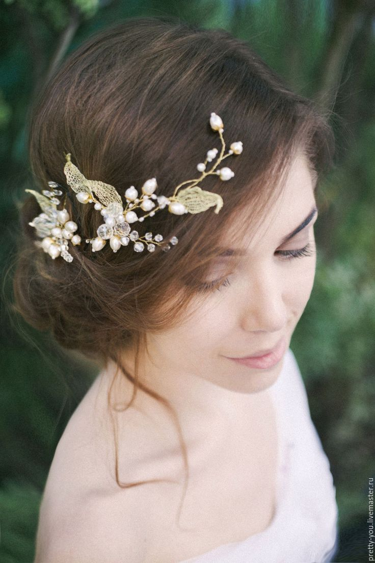 Купить Свадебный венок для волос. Венок на голову. Украшение для невесты - белый, венок из цветов