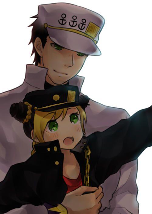 Jotaro and Jolyne